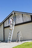 Painter on Ladder Royalty Free Stock Images