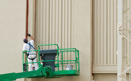 Painter on Lift Royalty Free Stock Images
