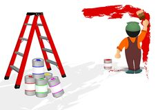 Painter man, cdr vector Stock Photo