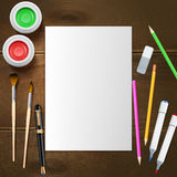 Painter Mockup Illustration Stock Photography