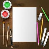 Painter Mockup Illustration Stock Photography