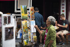 Painter at Montmartre in Paris Royalty Free Stock Image