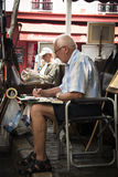Painter at Montmartre in Paris Royalty Free Stock Photo