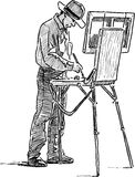 Painter on open air Royalty Free Stock Photo