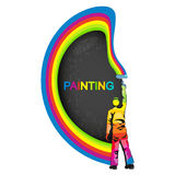 Painter with paint vector illustration Royalty Free Stock Photography