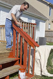 Painter Painting Deck Royalty Free Stock Photo
