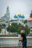 The Holy Trinity-St. Sergius Lavra in Sergiyev Posad, Russia. royalty free stock photography