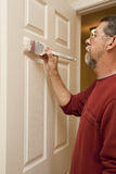 Painter painting trim stock photos