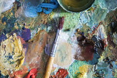 Painter pallete Royalty Free Stock Photography