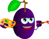 Painter plum Stock Image