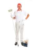 Painter posing with equipment Stock Photos