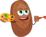 Painter potato Royalty Free Stock Image