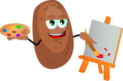 Painter potato Stock Images
