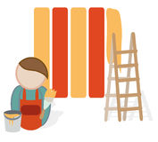 Painter Profession Icon Stock Images