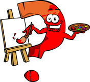 Painter question mark Stock Photo