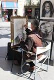Painter in ramblas Stock Photo