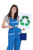 Painter with recycling symbol Royalty Free Stock Images
