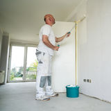 Painter during the renovation stock photos