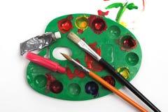 Painter's palette Stock Image