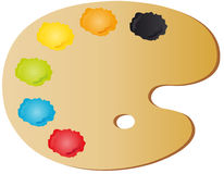 Painter's palette. Vectors illustration shows the painter's palette royalty free illustration