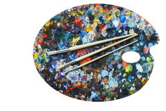Painter's palette Stock Photo