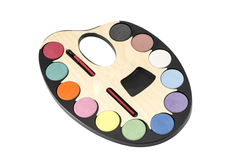 Painter's palette isolated on white : Clipping path included. Royalty Free Stock Photos