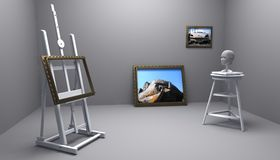 Painter and sculptor Stock Images