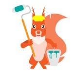 Painter squirrel Stock Image