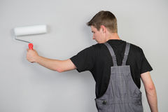Painter starts his work Royalty Free Stock Image