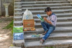 Painter Tehran Stock Photography