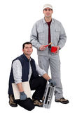 Painter and tiler Royalty Free Stock Photo