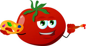 Painter tomato Royalty Free Stock Images