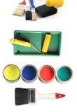 Painter tools stock photos