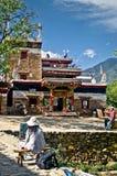 Painter by traditional tibetan Danba village Jiaju in China Stock Photography