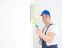 Painter in uniform Royalty Free Stock Image