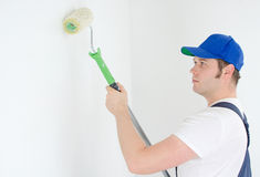 Painter in uniform Stock Photography
