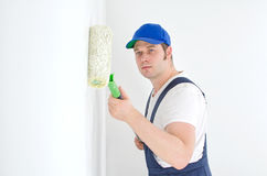 Painter in uniform Stock Photo