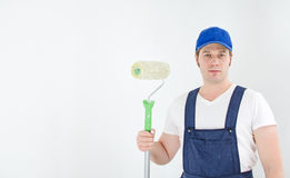 Painter in uniform Royalty Free Stock Photography