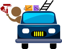 Painter with vehicle Stock Photography