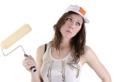 Painter woman (3) Royalty Free Stock Photography
