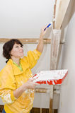 Painter woman Royalty Free Stock Image