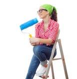 Painter woman Royalty Free Stock Photos