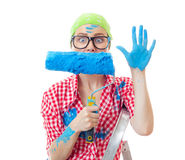 Painter woman Stock Image