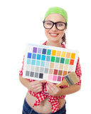 Painter woman Royalty Free Stock Photography