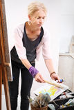 Painter at work Stock Photography