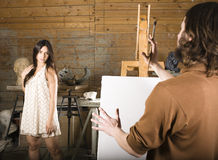 Painter at work Royalty Free Stock Photography