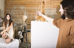 Painter at work Royalty Free Stock Images