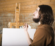 Painter at work Royalty Free Stock Photos