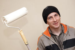 Painter worker decorator Royalty Free Stock Images