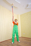 Painter worker during his job Royalty Free Stock Photos
